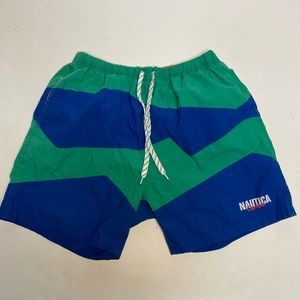 Vtg rare nautica caribe swim shorts medium 90s